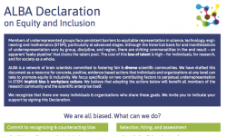 ALBA Declaration on Equity and Inclusion image